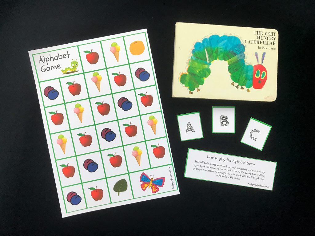 Learning The Very Hungry Caterpillar Alphabet Game