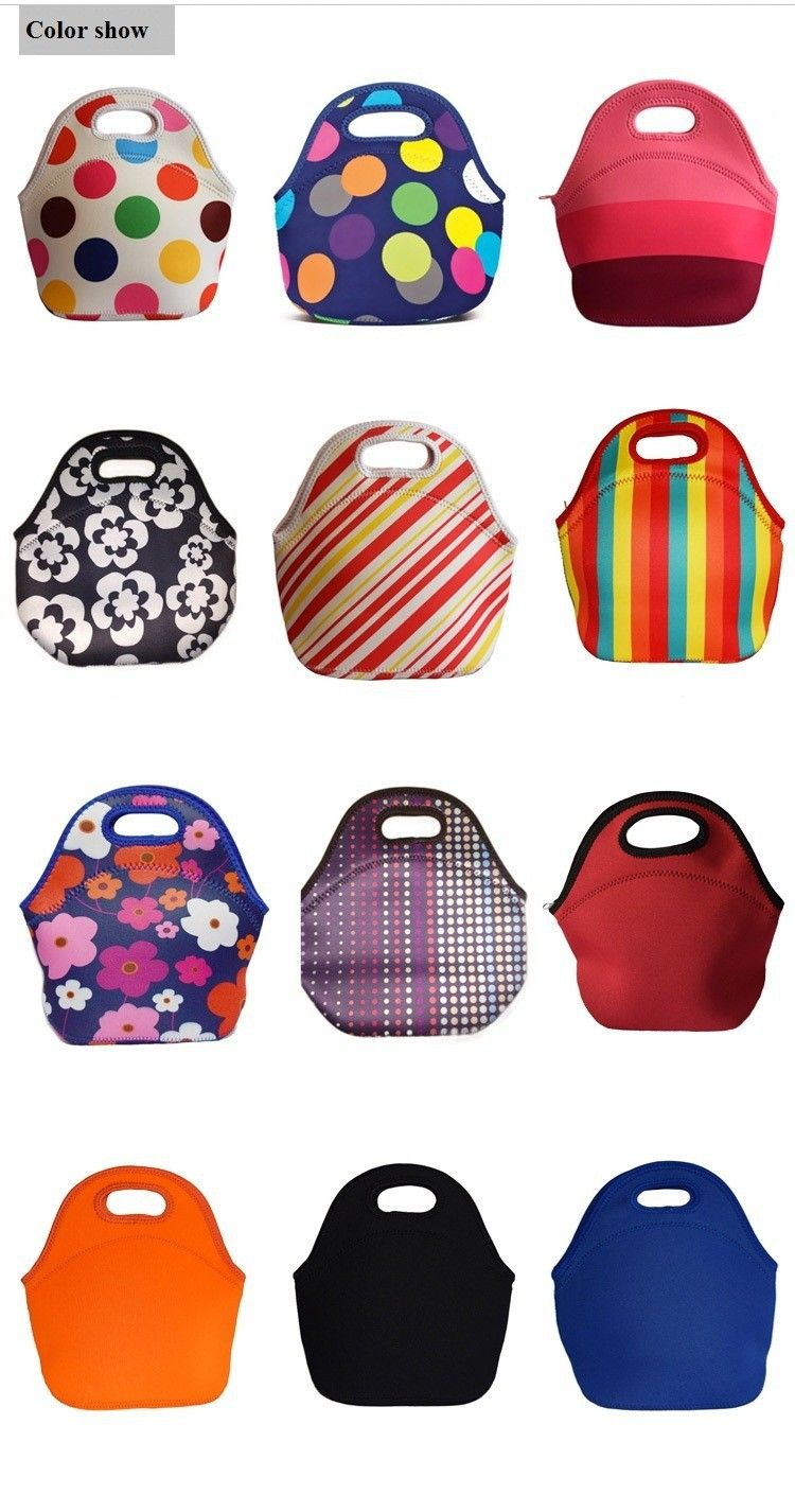 f3d031de7928 Lancheira Thermo Thermal Insulated Neoprene Lunch Bag for Women Kids Lunch  Bags Tote Cooler Lunch Box Insulation Bag Free Ship-in Lunch Bags from  Luggage ...