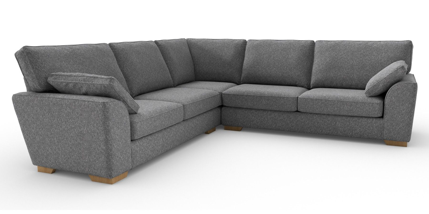 Buy Stamford Universal Corner Sofa 5 Seats Tweedy Blend Mid Grey Large Square Angle Light From The Next Uk Online Shop Corner Sofa Corner Sofa Uk Sofa