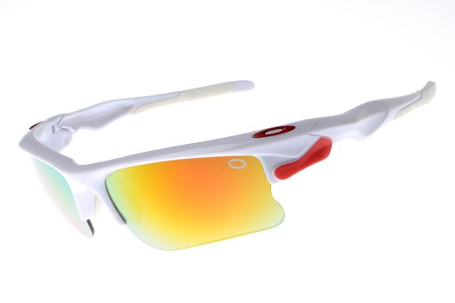 Star of Oakley Classic Sun Glasses Cream White Red Frame Colorful Lens  $12.97