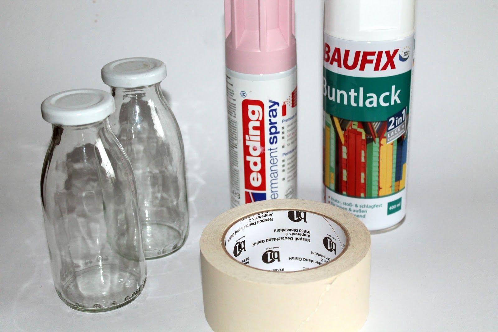 Wohnideen Recycling diy upcylcling recycling vasen aus kleinen milchflaschen