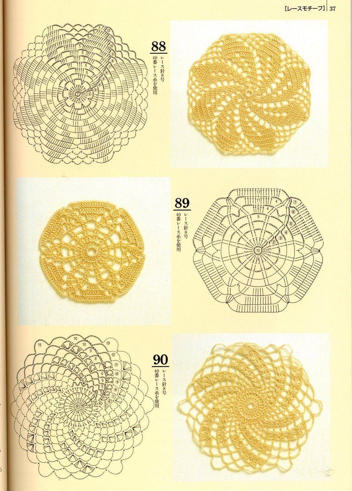 Granny Squares, cuadrados a crochet patrones | Tejedorita | cuadros ...