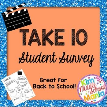 Take TenStudent Survey Great For Back To School  Student Survey