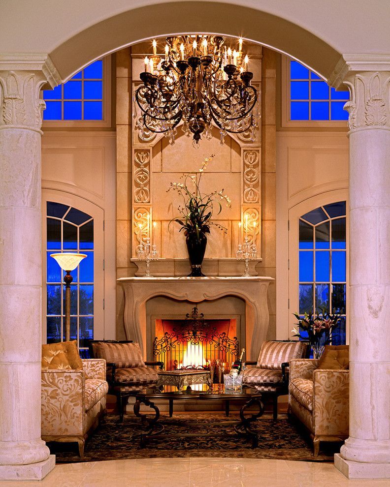 Living Room With Fireplace Design Ideas: Pachel Stone Mantel