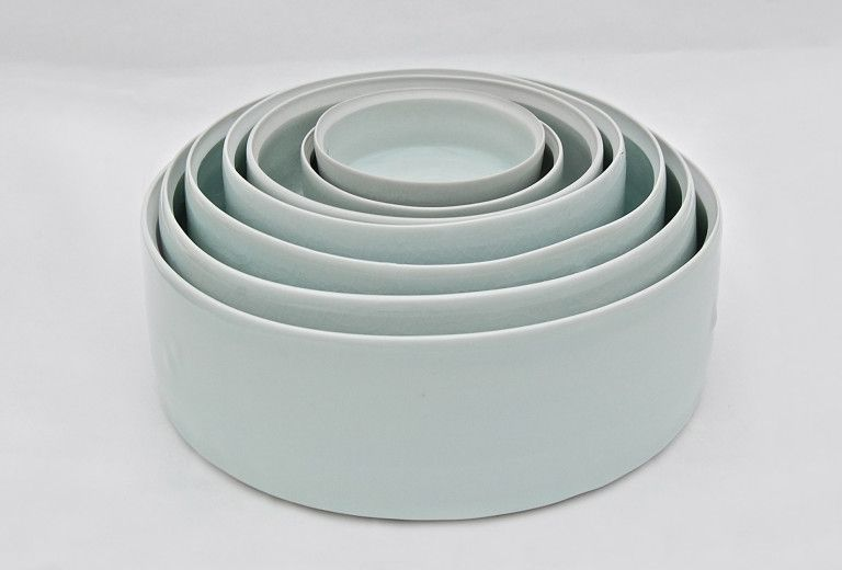 Dishes, 2002. Seladon glaze.