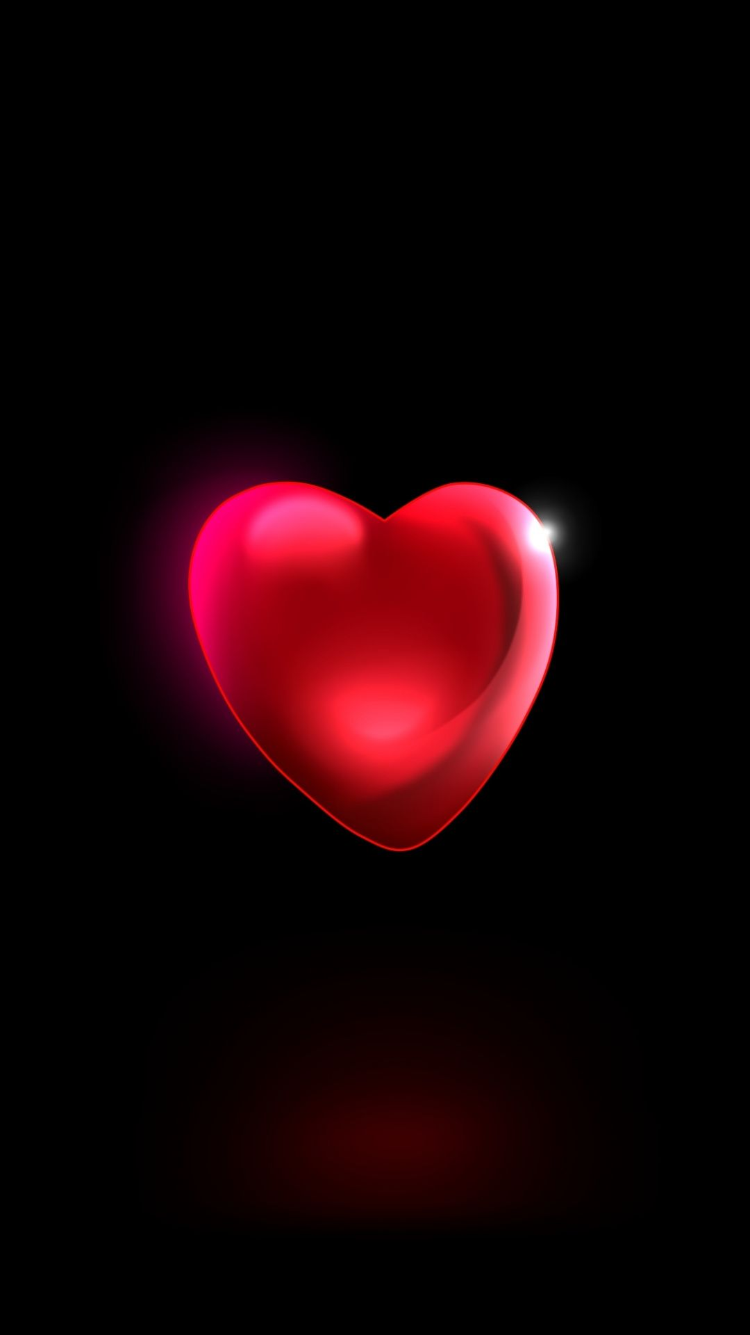 Minimal Red Heart 3d Wallpaper Heart Wallpaper Iphone Background Iphone Wallpaper