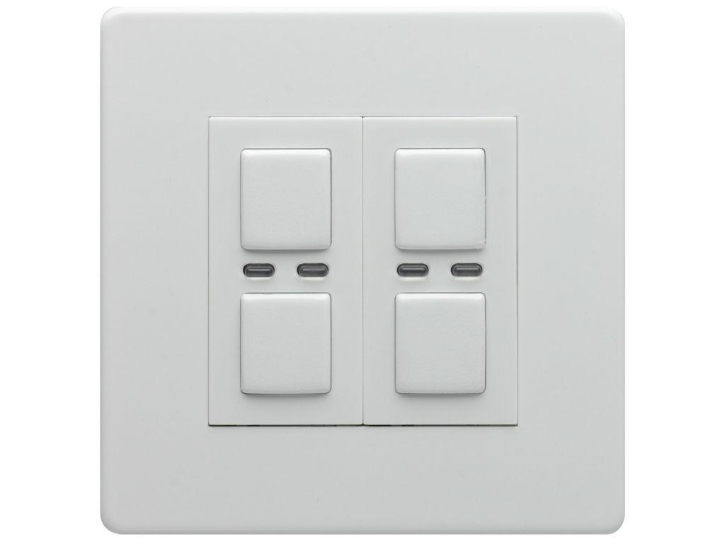 LightwaveRF Wireless Control 2 Gang 2 Way 250W Light Switch/Dimmer ...