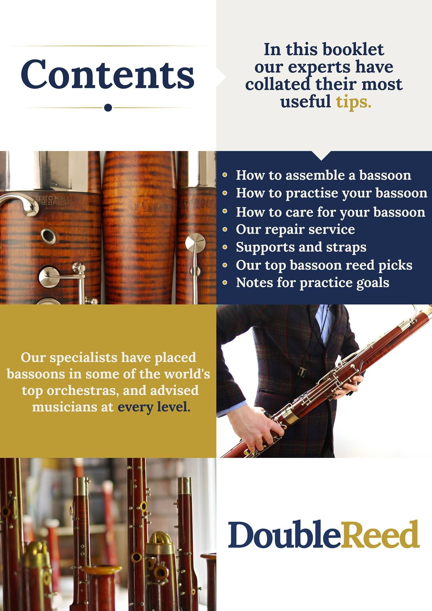 Download 'The Double Reed Bassoon Guide'  Our specialists