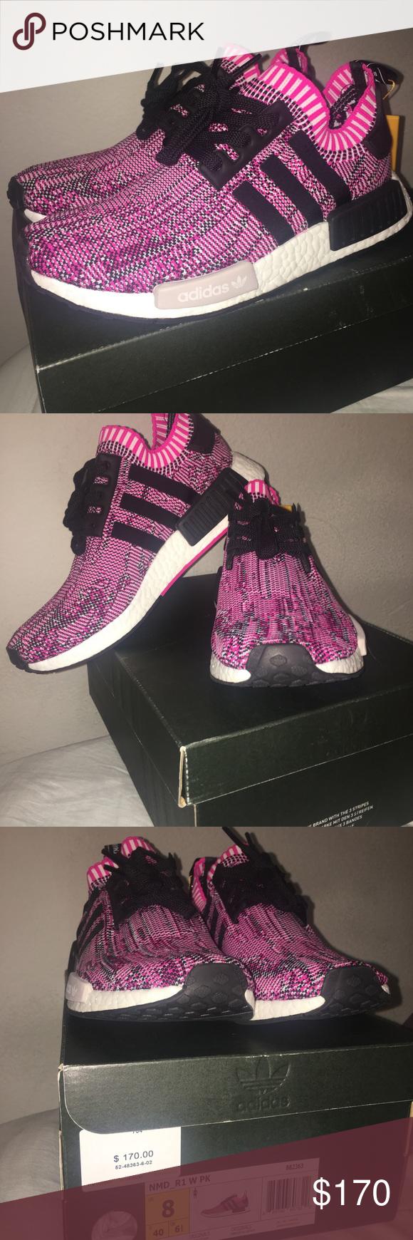 sz 8 rosa e nero adidas maglia nmds brand new ordinati