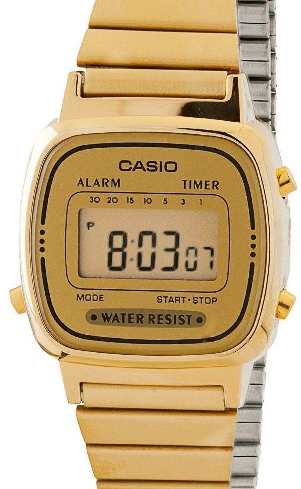 Casio Ladies La670Wga-9 Watch Gold Steel Band Digital Classic Vintage