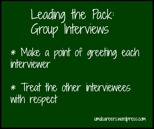 Leading the Pack Group Interviewing Group interview, The pack - perfect phrases for resumes
