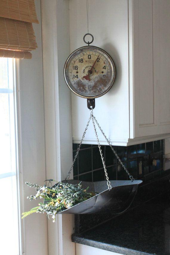 Antique Hanging Kitchen Scale by MyVintageLane on Etsy