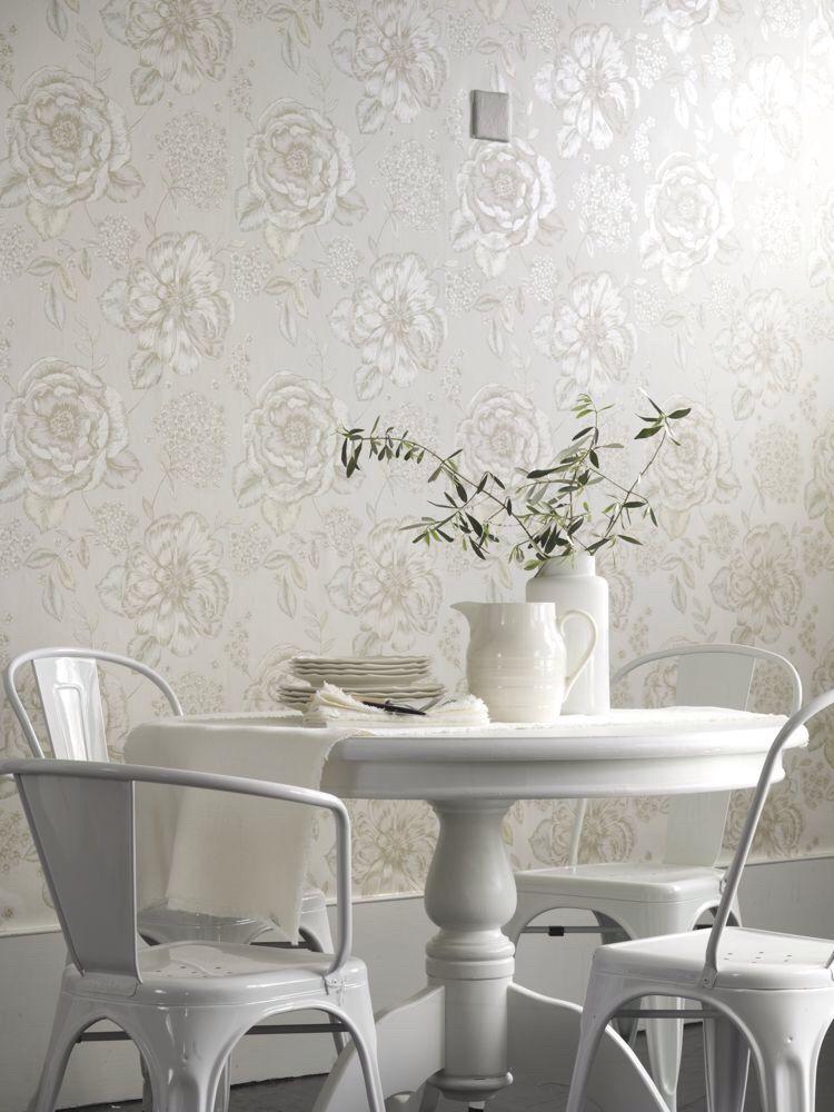 Mirella Chalk By Prestigious Cream 1615076 Wallpaper Watch