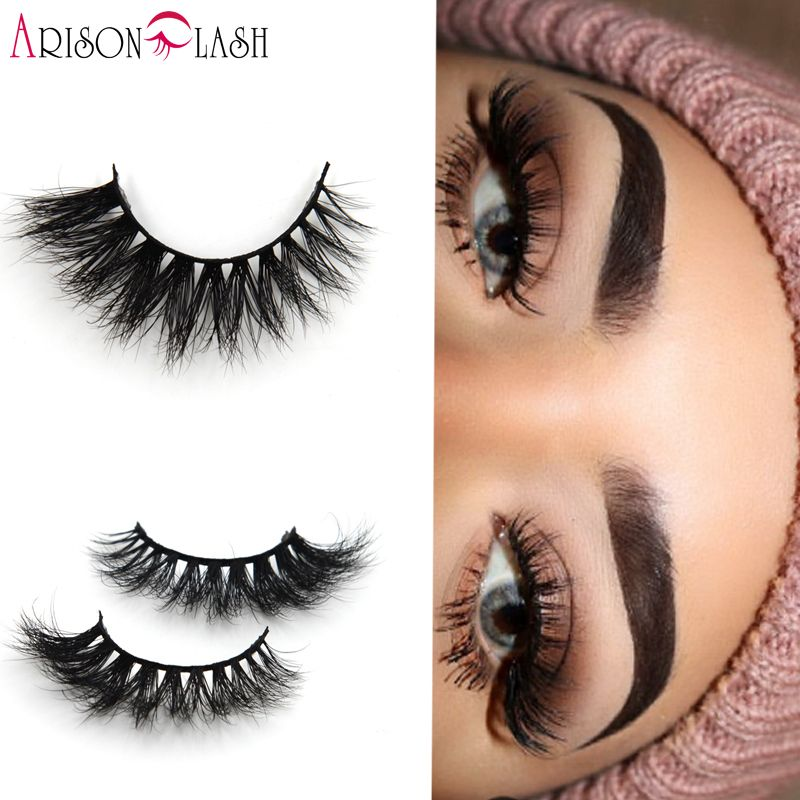 697462afad0 Arison Sexy 100% Handmade 3D Mink Full Strip Lashes Beauty Thick Long False  Mink Eyelashes Fake Eye Lashes Eyelash Round Box #Affiliate