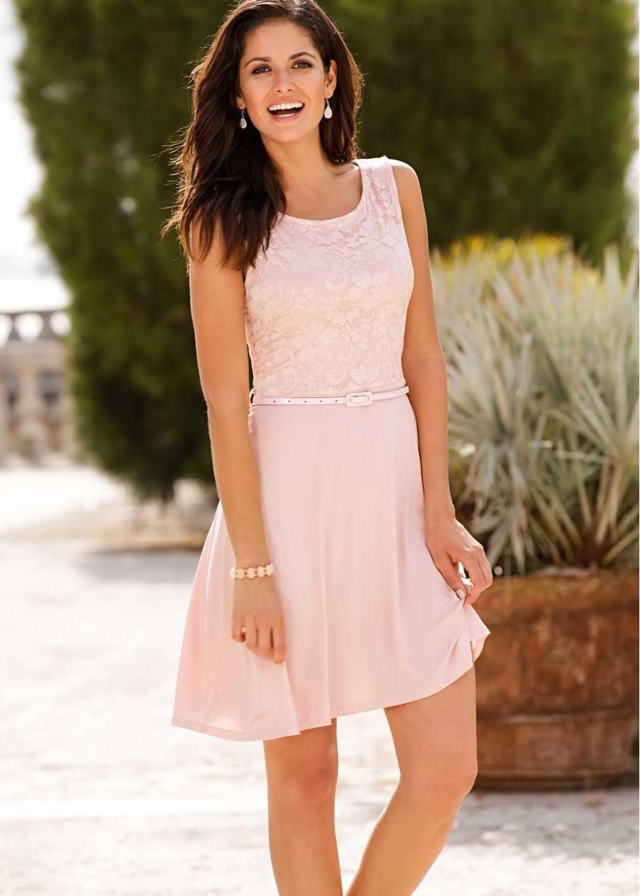 Shirtkleid mit Spitze  Modestil, Edle kleider, Kleid mint