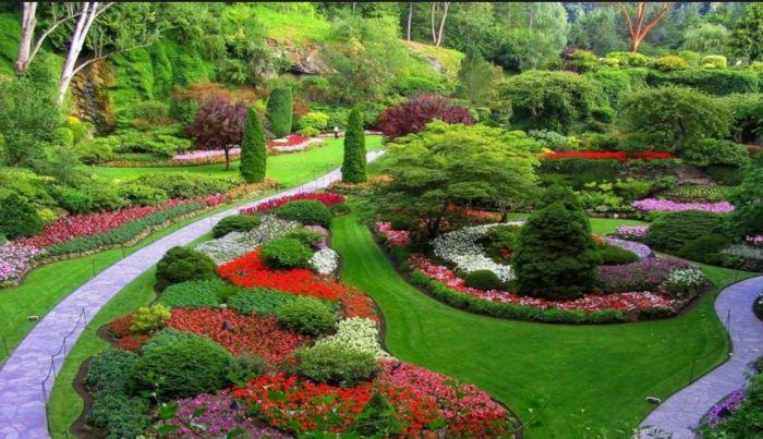 Mein Schöner Garten Gartengestaltung Ideen Gehweg Brunnen