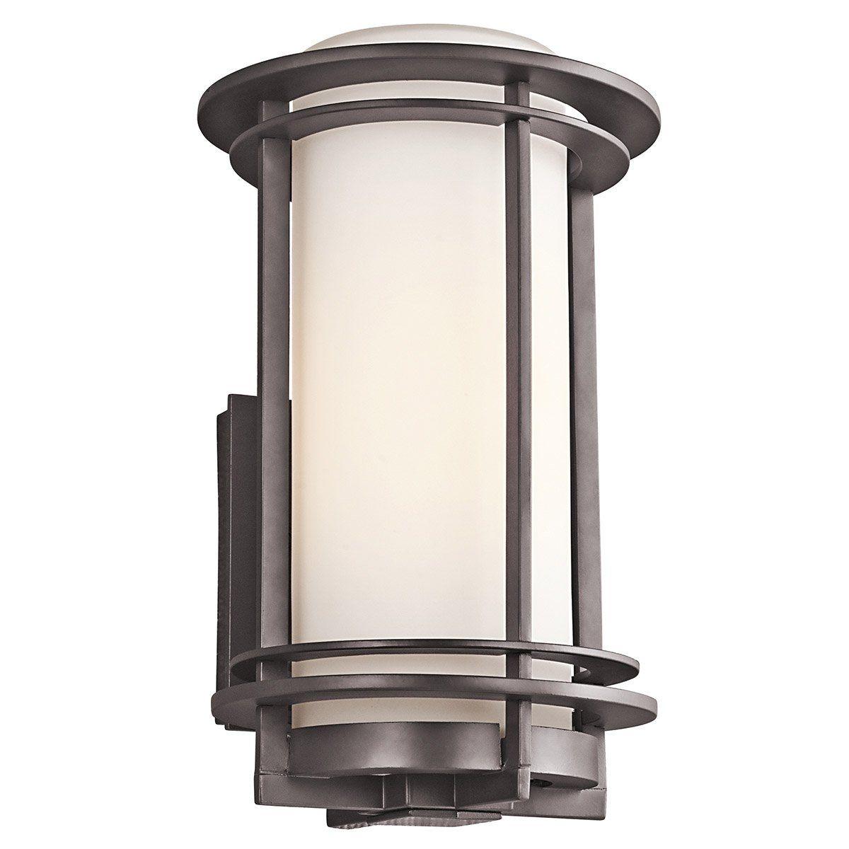ff1078febb8 Kichler Lighting 49345AZFL Pacific Edge 1 Light 13 inch Architectural Bronze  Outdoor Wall Mount in Fluorescent