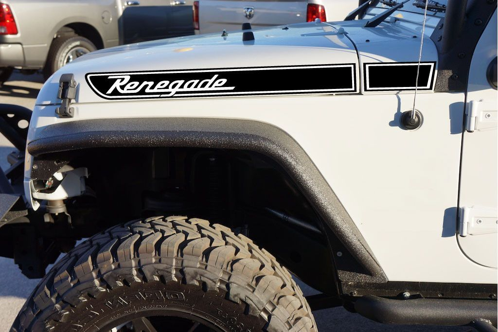 Jeep Wrangler Renegade Retro Hood Decal Kit Multi Color For Your