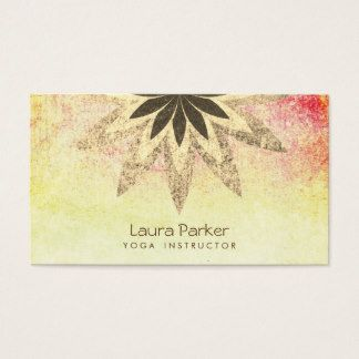 Lotus flower yoga instructor vintage holistic business card lotus flower yoga instructor vintage holistic business card colourmoves