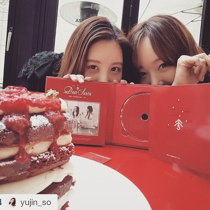 seojuhyun_s: #Repost @yujin_so ・・・ 예쁜울유진언니~~ㅎㅎ넘넘 고맙습니다♡ 언니랑 즐거운데이트♡