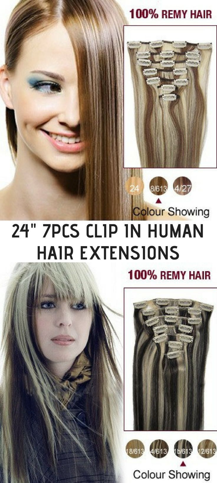 These Clip In Hair Extensions Look As Real As Glued In Extensions