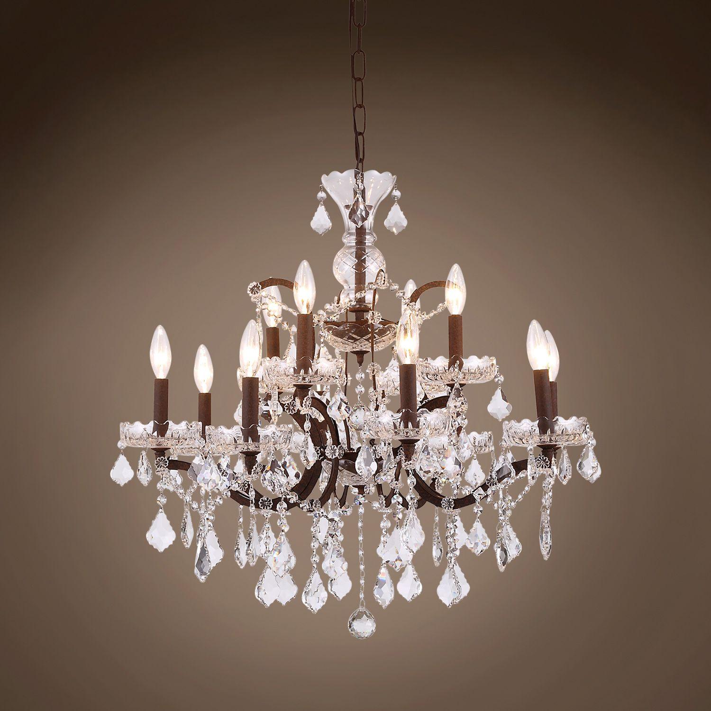 19th C Rococo 12 Light 26 Crystal Chandelier Diy Chandelier