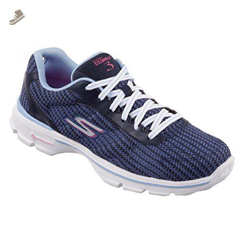 Skechers Go Walk 3 Fitknit Women's Charcoal Shoes Free