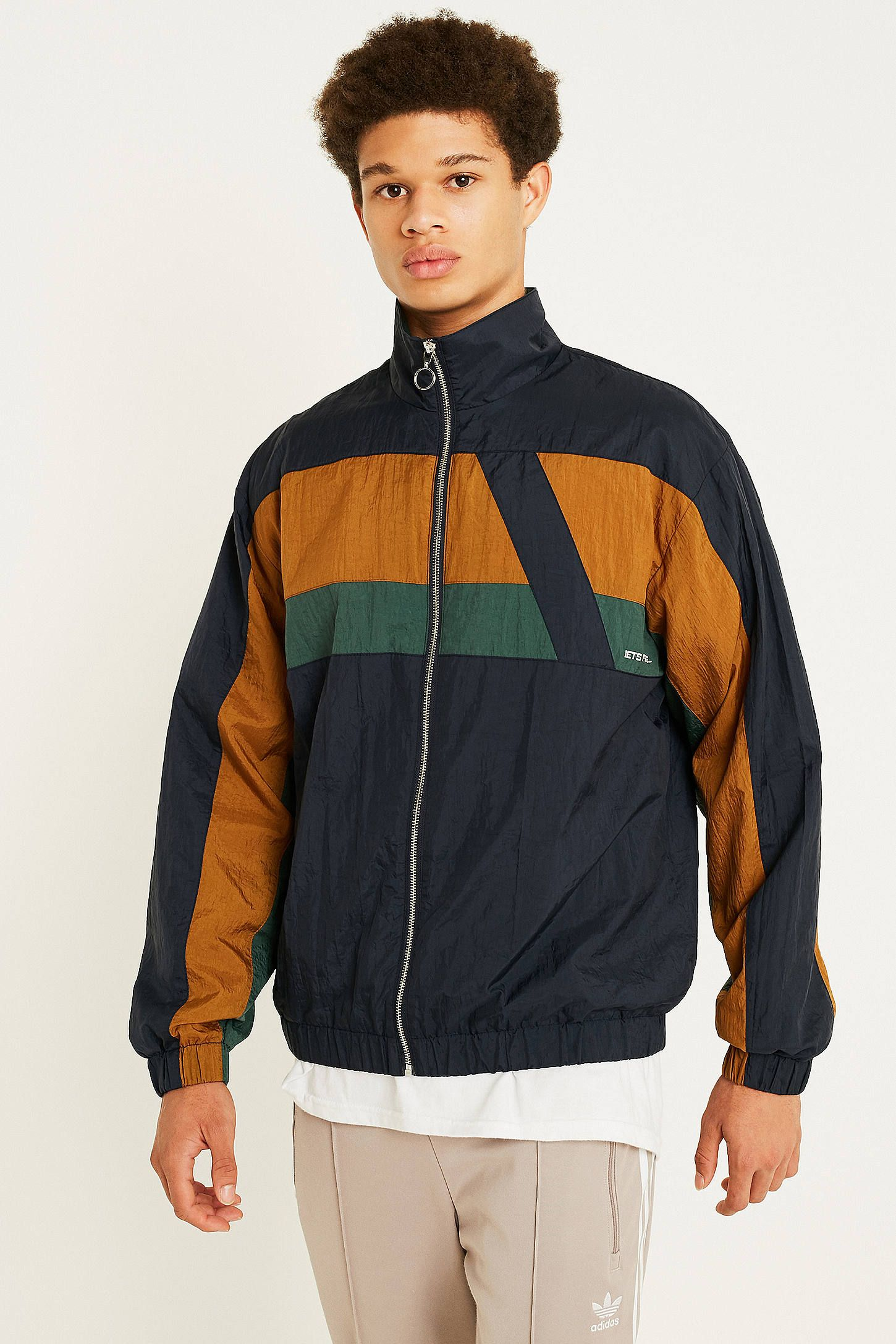 3c4f22fb6b54e iets frans… Panelled Navy Track Jacket | AW19 | Jackets, Navy, Fashion
