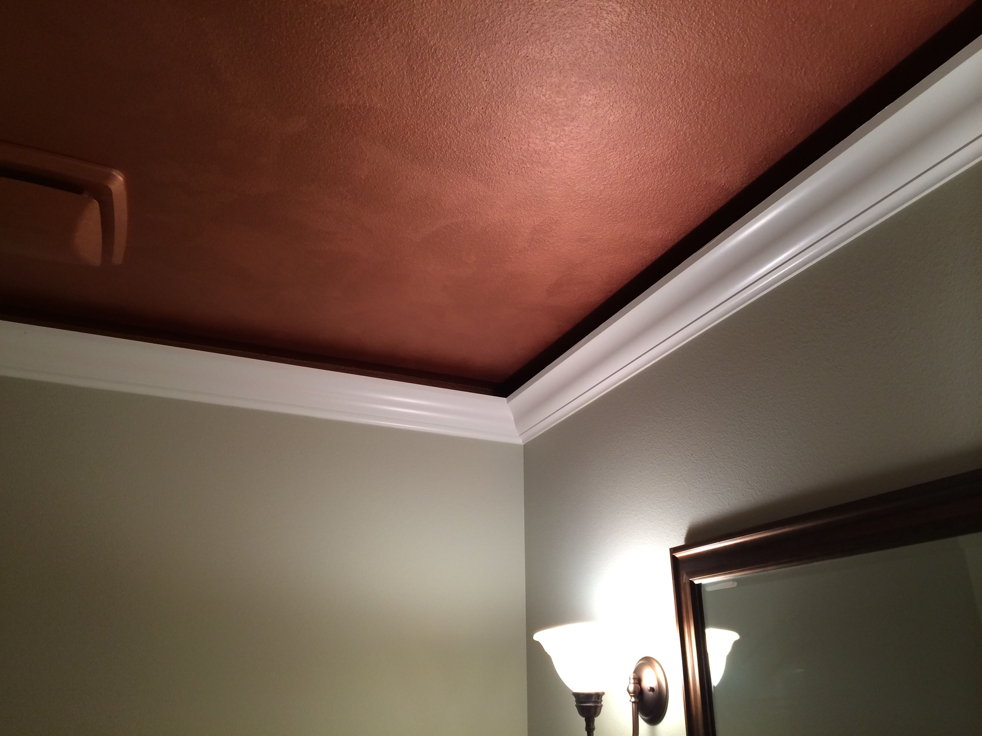 Bathroom Ceiling Gap Between Crown Molding Copper Gorgeous From My Friend Rosemary
