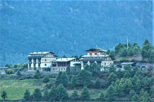 Gamtey Lodge nestles high in the Mountains of Bhutan..