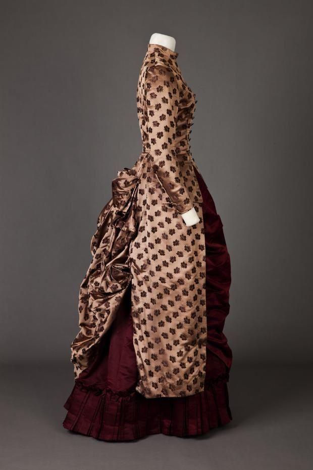 Dress. 1885 - 1886.   Goldstein Museum Of Design   gdfalksen.com