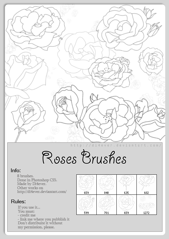 Roses Brushes by on