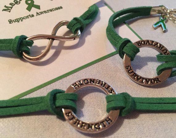 Depression Awareness Bracelet Green Mental Health