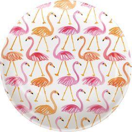 Flamingo Melamine Tidbit Topper