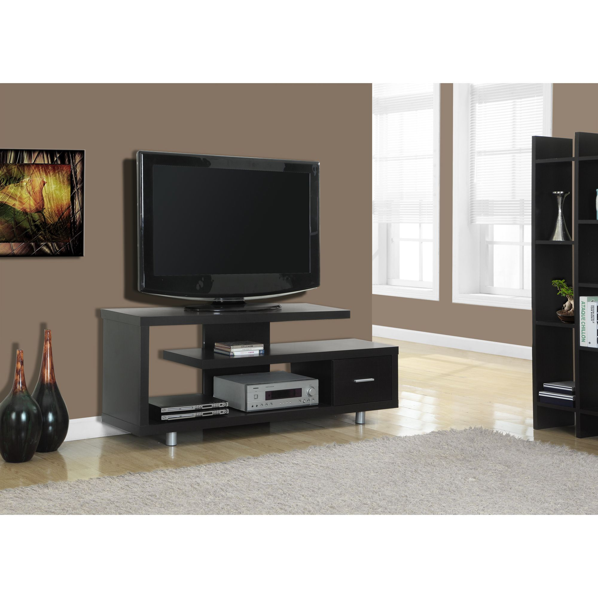 Cappuccino Hollow core 60 inch TV Console Overstock