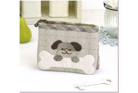 """Kit de patchwork Japonais """" porte clef chien """""""