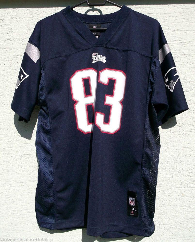 NFL New England PATRIOTS Shirt WELKER 83 XL age 18 - 20Navy  4827576c51af