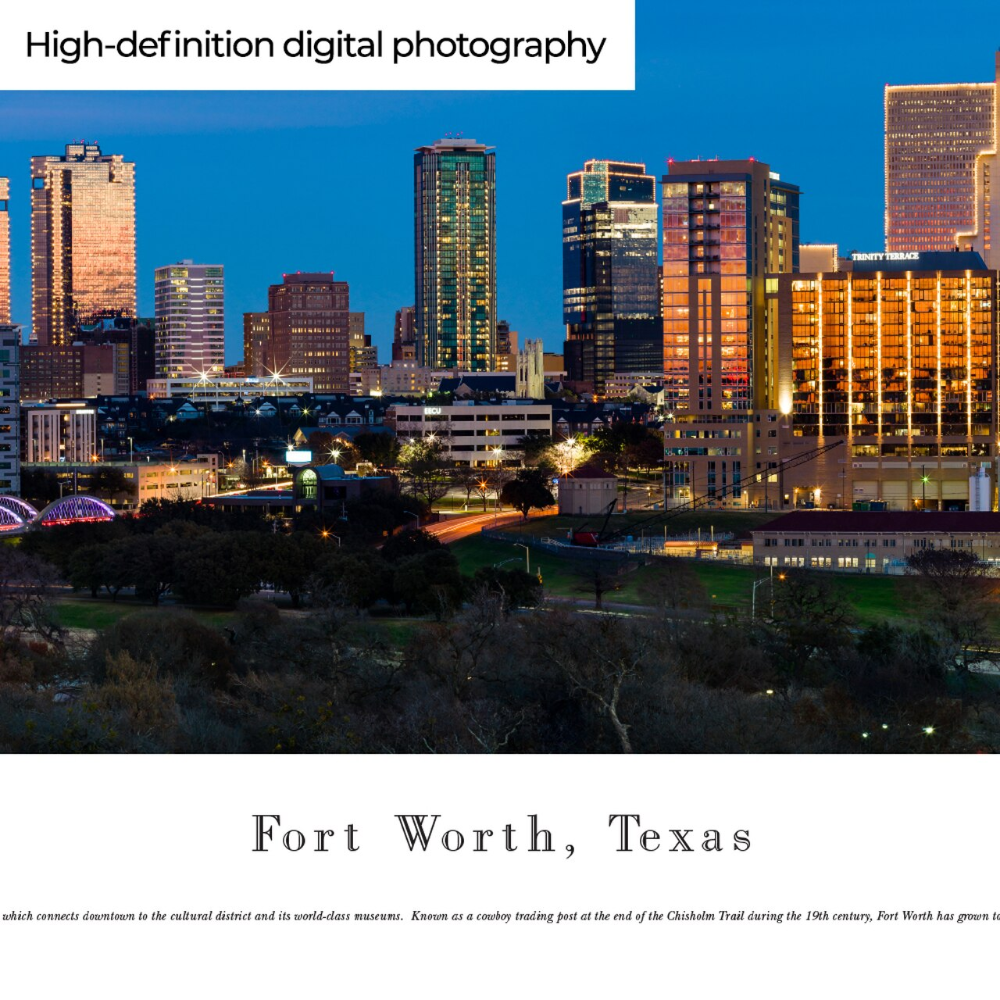 Pin On Fort Worth Texas City Skyline Wall Art