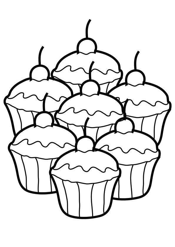 Pin By Bugg Cerise On Ez Easy Coloring Pagez Cupcake Rhpinterest: Easy Coloring Pages Of Food At Baymontmadison.com