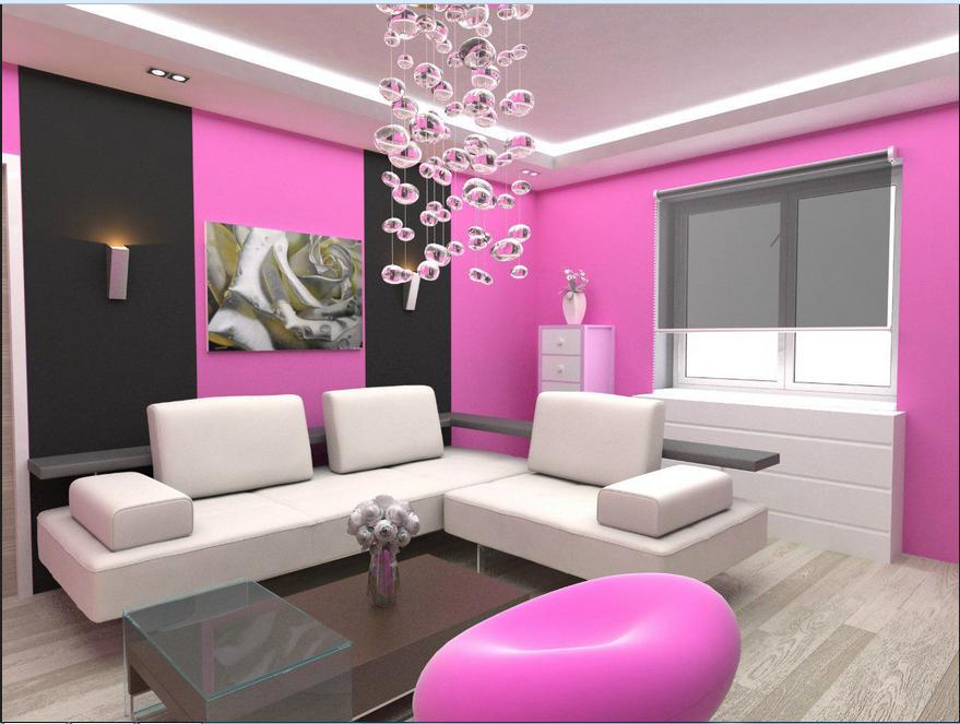 Fantastisch Streich Ideen Wohnzimmer Ein Raum Mit Rosa Wänden