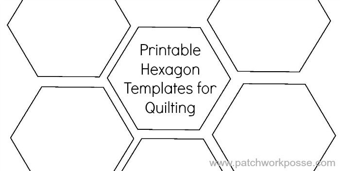 Printable Hexagon Template For Quilting Pdf Download Hexis