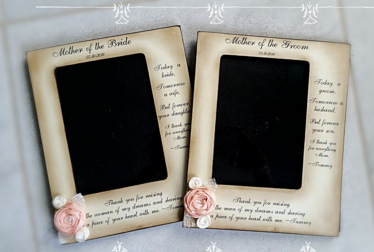 Mother Of The Groom Bride Frame From Bride And Groom Two Messages