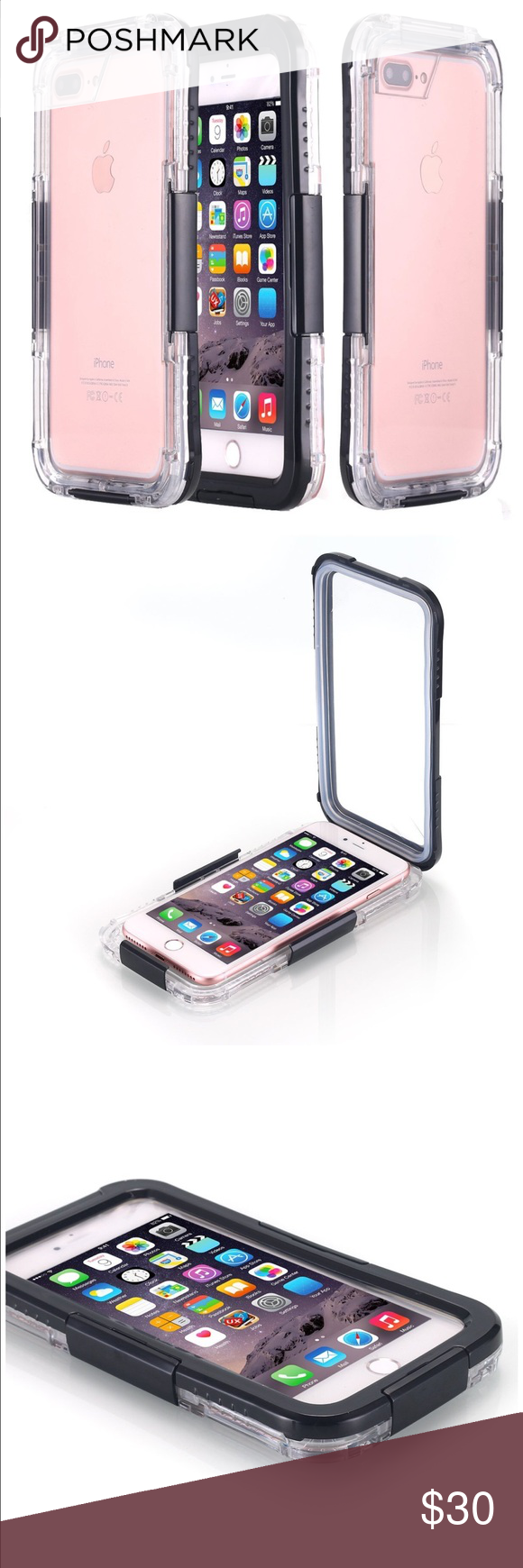 Sold Waterproof Iphone 7 Plus Case Pc Screens And Phone 2in1 Gravity Full Cover Tempered Glass For 6