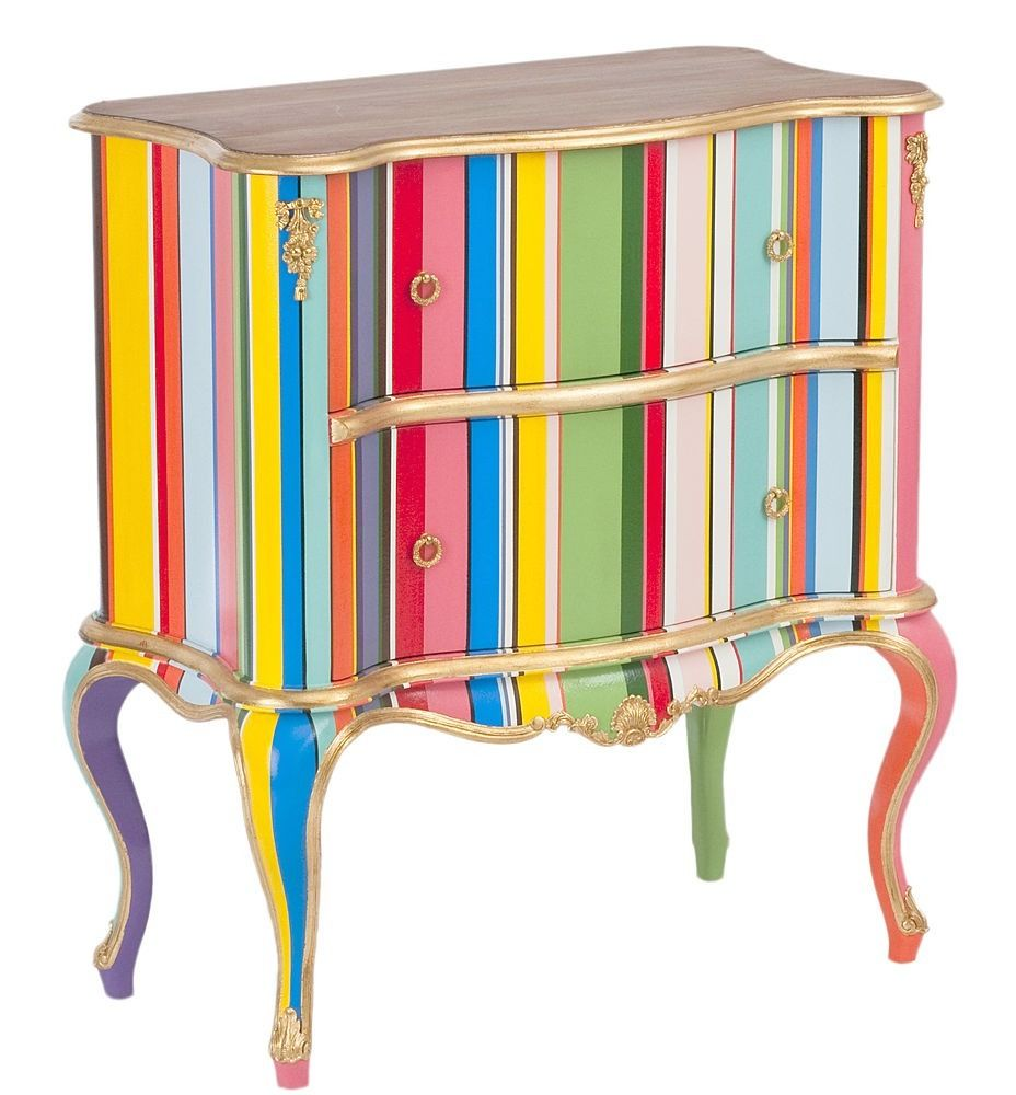 Bold Stripes Enliven This Chest   Give New Life To Old Furniture With Paint.  Painted ...