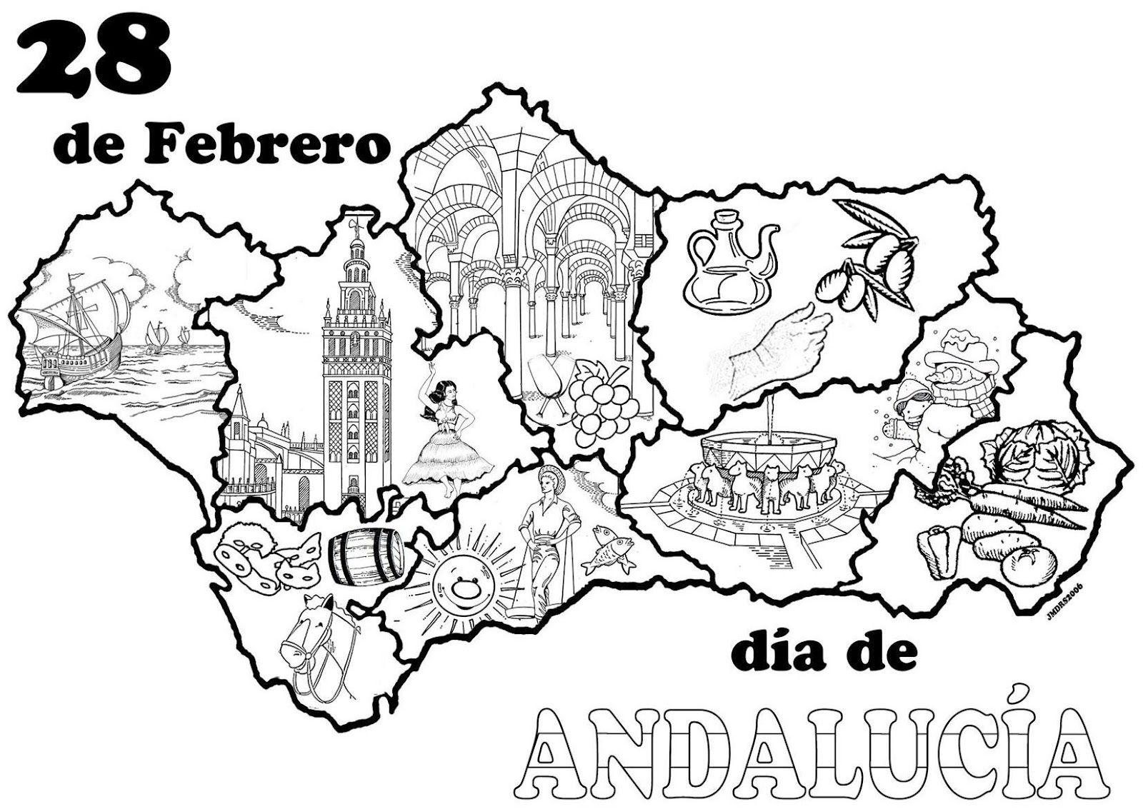 Colorear Dia Andalucia Buscar Con Google Dia De Andalucia Andalucia Plantillas Para Dibujar