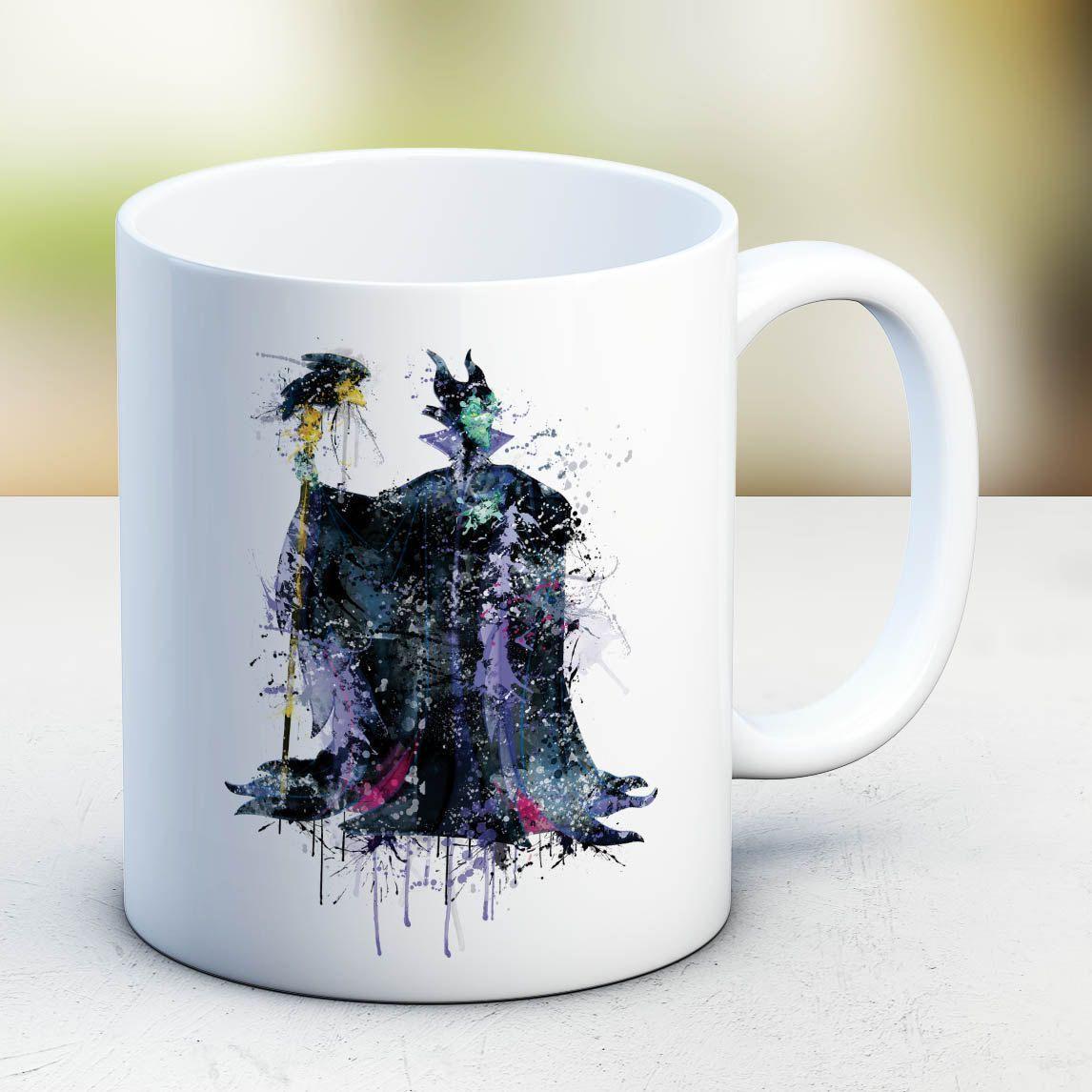 Maleficent Mugs Disney Maleficent Art Disney Coffee Mug