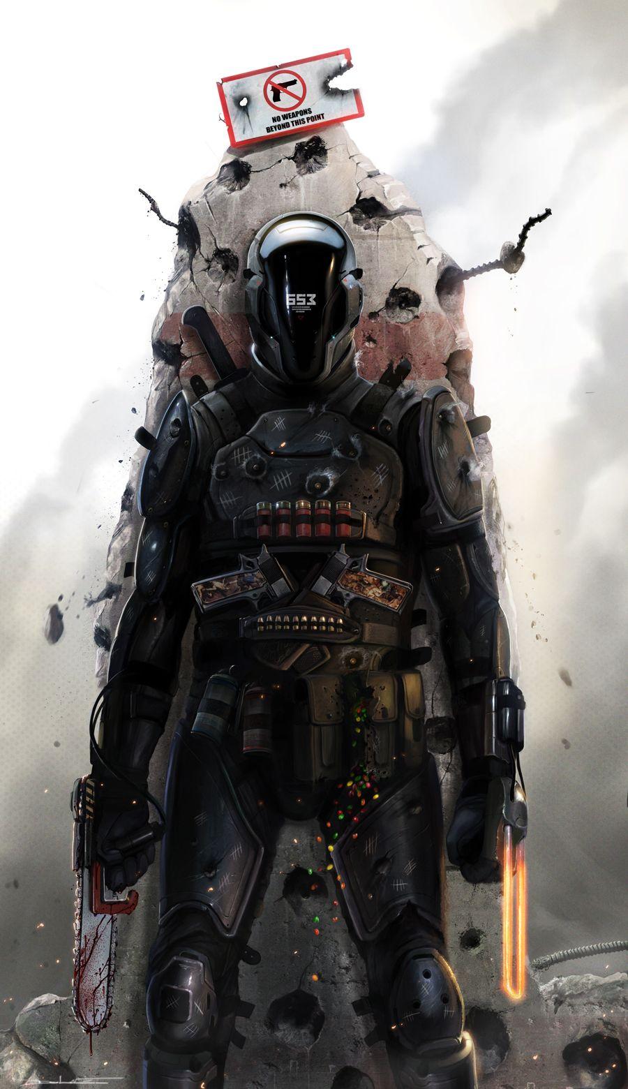 Gabriel Picture  (2d, illustration, soldier, sci-fi)