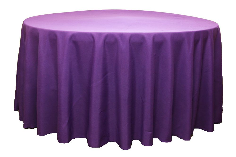 Polyester 120 Round Tablecloth Purple 120 Round Tablecloth