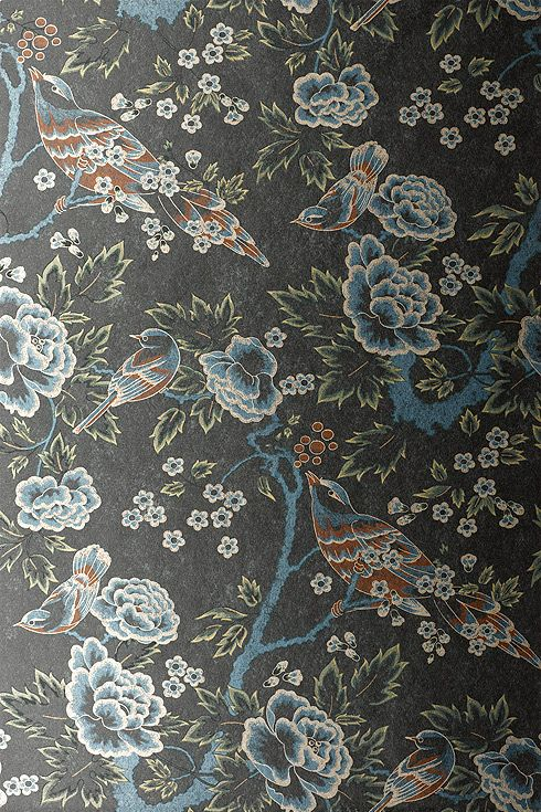 Anna French Wallpaper and Fabric Wild Flora Songbirds