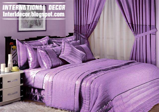Calm Purple Bedding Model With Purple Duvet And Sets With Purple Curtain Purple Bedding Purple Bedding Sets Bed Linens Luxury